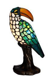 Nostalgia Design Tukan Tiffany Fågel bordslampa 32cm