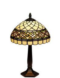 Nostalgia Design Rosor Tiffany bordslampa röd 42cm