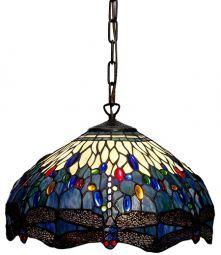 Nostalgia Design Trollslända Tiffany taklampa blå 40cm