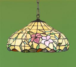 Nostalgia Design Hibiskus Tiffany taklampa 40cm