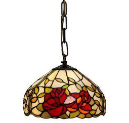 Nostalgia Design Rosor Tiffany taklampa 25cm