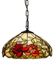 Nostalgia Design Rosor Tiffany taklampa 40cm