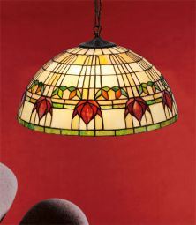 Nostalgia Design Fuchsia Tiffany taklampa 40cm