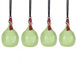 Hängande Höna ljusgrön 4cm 4-pack