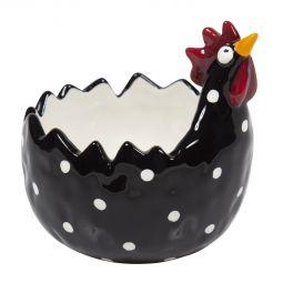 Keramikskål Höna svart 35cl