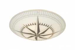 Kompass Plafond vit/svart 42cm