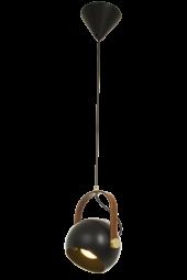 Bow Taklampa svart/matt mässing 20cm