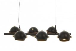 Bow Taklampa svart/matt mässing 92cm