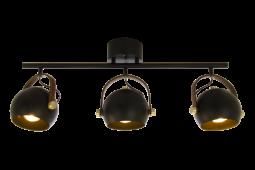 Bow Taklampa svart/matt mässing 76cm