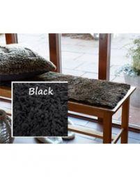 Fårskinnssits Bench Black 35x100cm