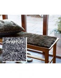 Fårskinnssits Bench Graphite Special 35x100cm