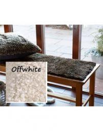 Fårskinnssits Bench Offwhite 35x100cm