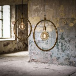PR Home Circle fönsterlampa guld 35cm