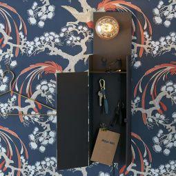 Combo nyckelskåp svart 62cm