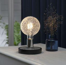 Magic Lampfot E27 svart/krom 15cm