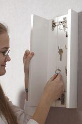 Agda nyckelskåp vit