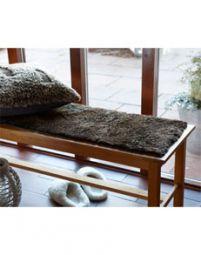 Fårskinnssits Bench Espresso 35*100cm