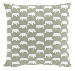 Noshörning kuddfodral 50x50cm grön