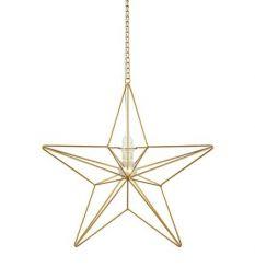 Tjusa Metallstjärna 42cm Guld
