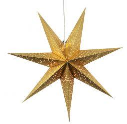 Dot 70cm pappersstjärna guld