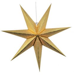 Dot 100cm pappersstjärna guld