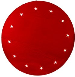 Granmatta röd Ø 100cm 12 LED