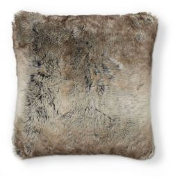 Kuddfodral fuskpäls Cozy brun 45x45cm Skinnwille