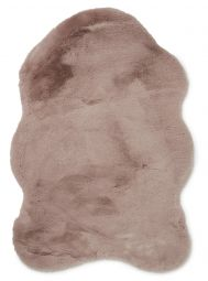 Fluffy Fäll fuskpäls rosa 60x90cm Skinnwille