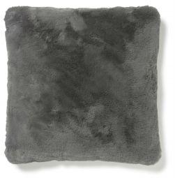 Fluffy Kudde fuskpäls grå 45x45cm Skinnwille