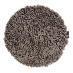 Skinnwille fårskinnssits rund Curly sahara 34cm 4-p