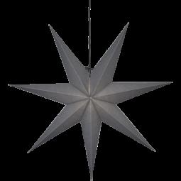 Star Trading Ozen adventsstjärna i papper grå 70cm
