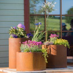 GrillSymbol Sisters Set blomkrukor 3 st i cortenstål