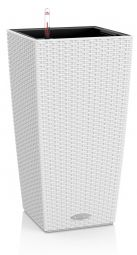 Självvattnande Cubico Kruka Cottage 40 Vit Höjd 75cm