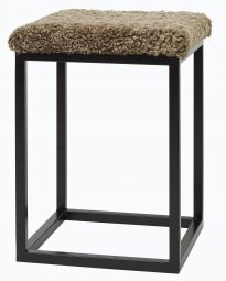 Fårskinnspall Palle S brun/svart 35x50cm Skinnwille