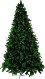 Toronto julgran/plastgran 225cm grön med kottar