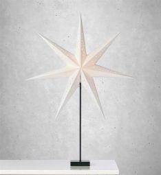 Markslöjd Solvalla stjärna på fot vit 1m