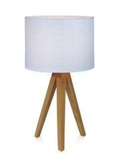 Kullen Bordslampa ek/vit 44cm