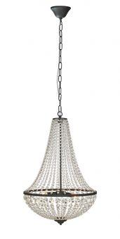 Markslöjd Gränsö kristallkrona tre lampor svart 68cm