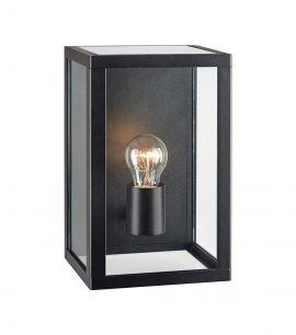 Pelham vägglampa svart/glas 28cm
