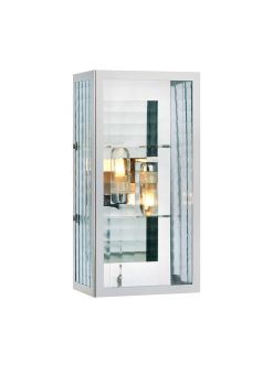 Fulham vägglampa badrum krom/glas