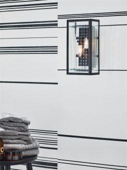 Fulham vägglampa badrumslampa svart/glas Markslöjd
