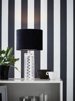 Monsieur bordslampa klar/svart 45cm