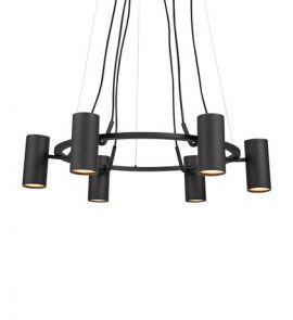 Markslöjd Porto Taklampa Pendel 6L svart