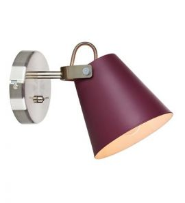 Markslöjd Tribe Vägglampa burgundy/stål