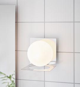 Markslöjd Zenit badrumslampa krom/vit IP44