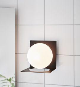 Markslöjd Zenit badrumslampa svart/vit IP44