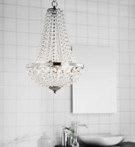 Markslöjd Gränsö kristallkrona badrum krom 30cm