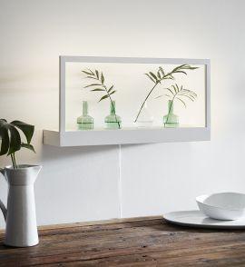 Markslöjd Pablo XL vägghylla LED vit 60cm