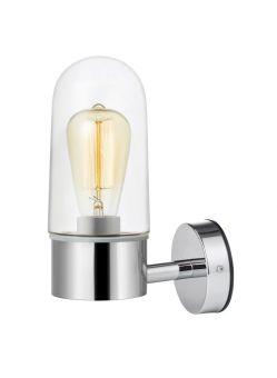 Zen Vägglampa krom/klar IP44 27cm