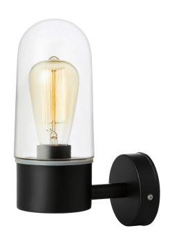 Zen Vägglampa svart/klar IP44 27cm